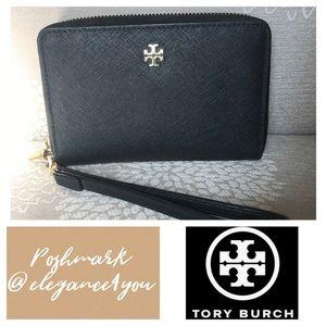 ✨TORY BURCH✨Black Leather Wallet / Wristlet